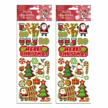 2x stickervellen kerst thema