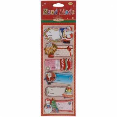 3d kerst kadostickers 6 stuks type 1