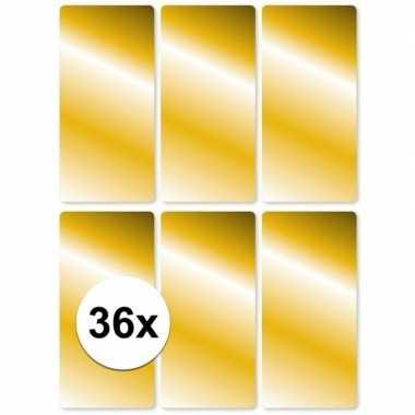 Gouden etiketten 2,5 x 5,5 cm