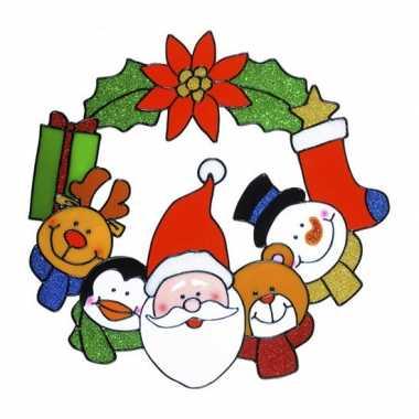 Kerst raam sticker 30 cm