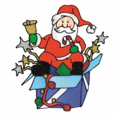 Kerst raamsticker kerstmis Kerstman
