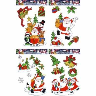 Kerst raamstickers kerstmis 12 stuks