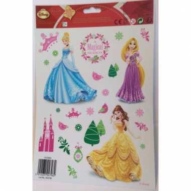 Kinder kerst raamstickers princess