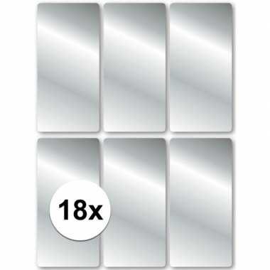 Zilveren cadeau etiketten 2,5 x 5,5 cm
