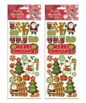 2x stickervellen kerst thema
