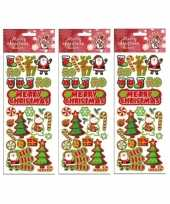 3x stickervellen kerst thema