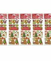 5x stickervellen kerst thema
