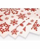 Kerst decoratie kerst raamstickers rode sneeuwvlokken