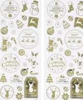 Kerst gouden stickers 52 stuks