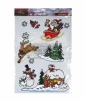 Kerst raamstickers versiering kerstmis
