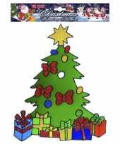 Kerstboom kerst raamsticker herbruikbaar