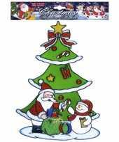 Kerstman kerst raamsticker herbruikbaar 10062313