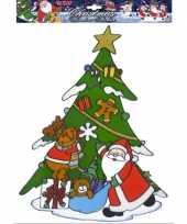 Kerstman kerst raamsticker herbruikbaar 10062318