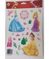 Kinder kerst raamstickers princess