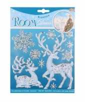 Winter decoratie kerst raamstickers hert