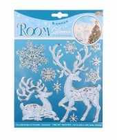 Winter decoratie kerst raamstickers hert